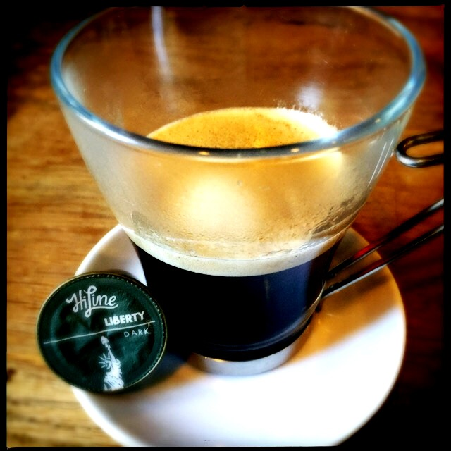 HiLine's Liberty Lungo capsule and coffee cup