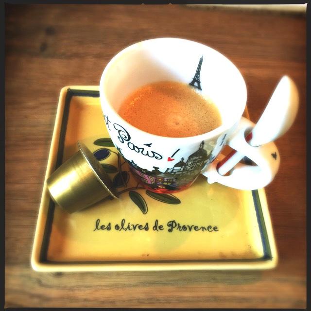 Rosso Caffe's Ricco capsule and espresso cup