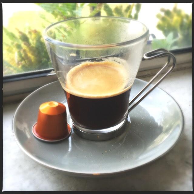 Nespresso's Linzio Lungo capsule and cup