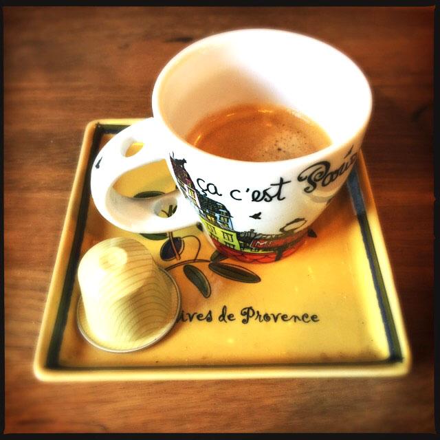 Nespresso's Vanilio capsule and coffee cup