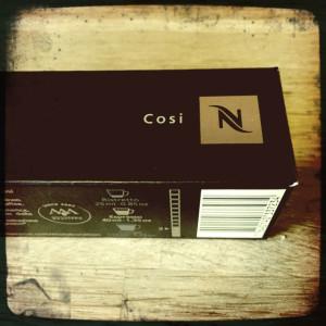 Cosi Nespresso capsule box