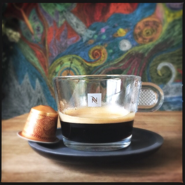 Nespresso's Monsoon Malabar capsule and coffee cup.