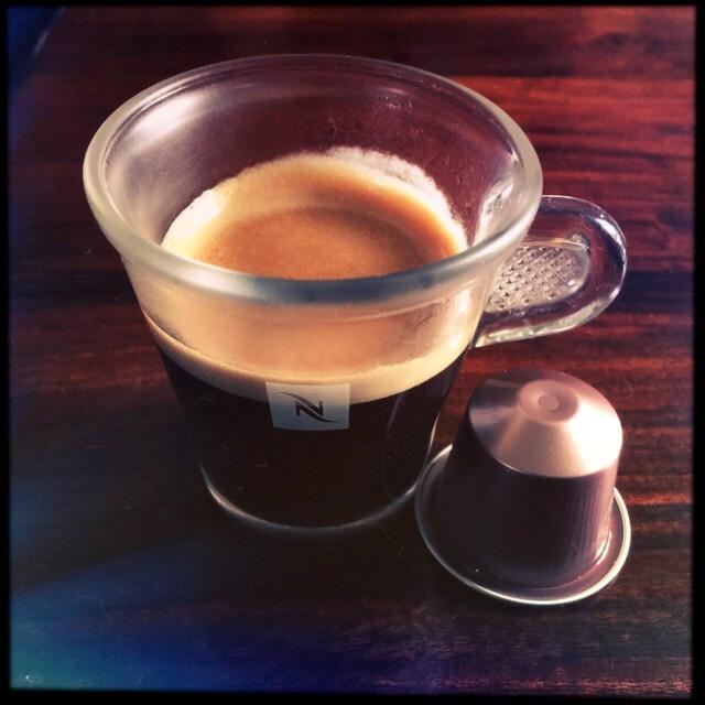 Nespresso's Rosabaya de Colombia capsule and coffee cup