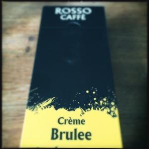 Crème Brulee Rosso Caffe capsule box