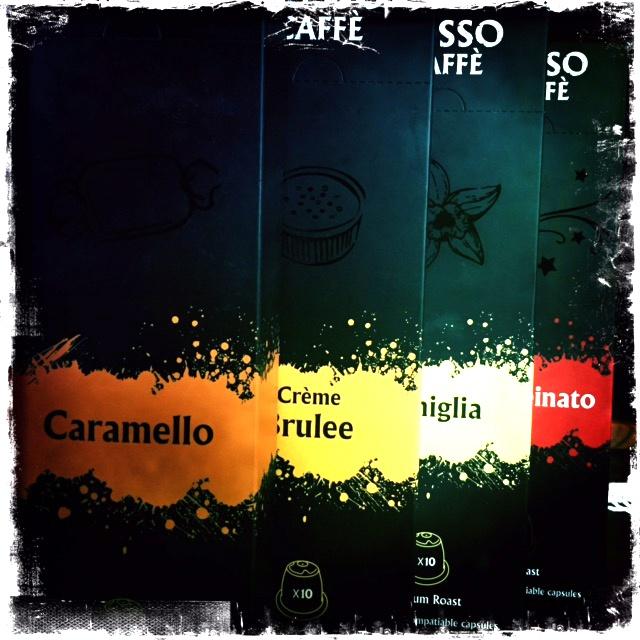 Rosso Caffe's New Capsules Vaniglia, Caramel, Creme Brulee and Decaffeinato