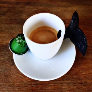 Umutima Wa Lake Kivu Rwanda Nespresso capsule and cup