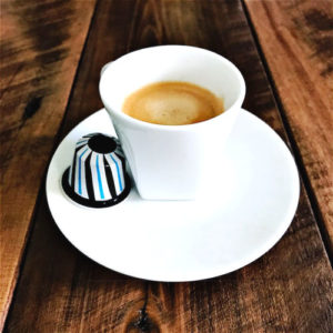 Variation Confetto Liquorice Nespresso capsule review and cup
